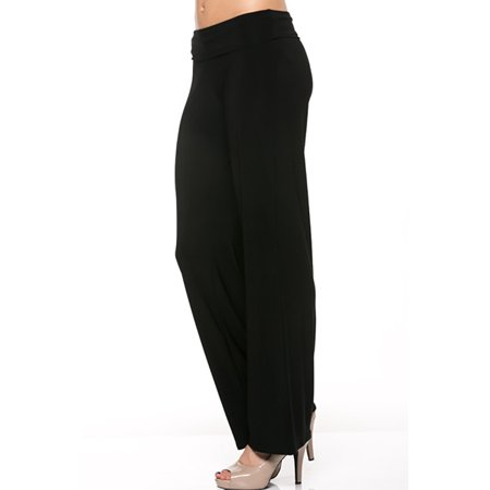 Thelovely Women Comfy Flared Bottom Career Palazzo Wide Leg Pants