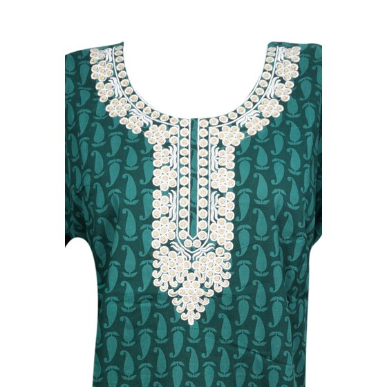 2cedd2d756 Mogul Interior - Mogul Womens Maxi Caftan Dress Neck Embroidered ...