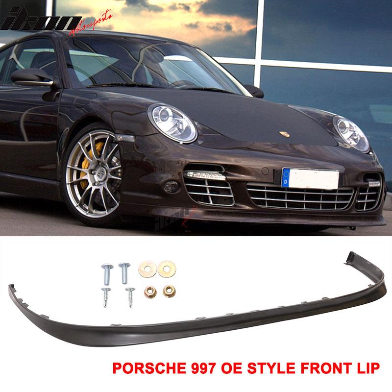 06-12 Porsche 997 OE Style Filled / No Holes Front Bumper Lip Unpainted PU