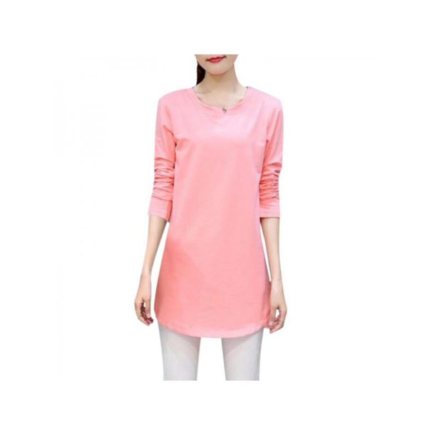 Topumt Womens Spring Solid Color Loose Long Sleeve Casual T- Shirt Tops Tees Blouse