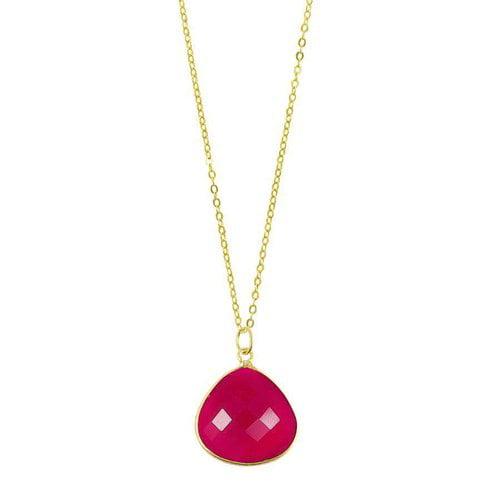 Chayenne Jewelry Medium Teardrop Pink Chalcedony Pendant Necklace by Generic