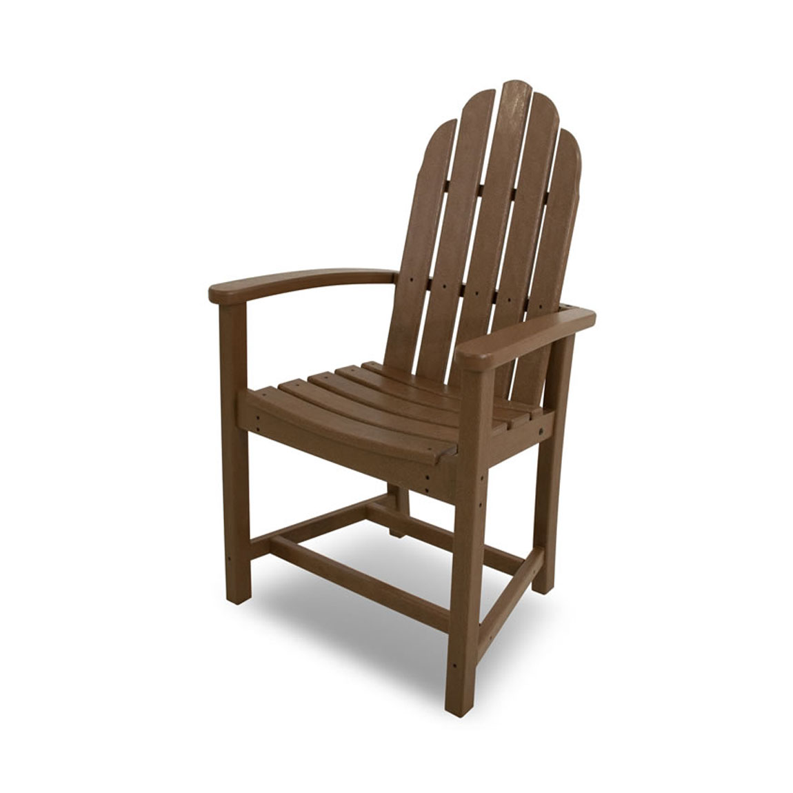 Recycled Plastic Classic Adirondack Dining Chair by Poly-Wood Adirondack