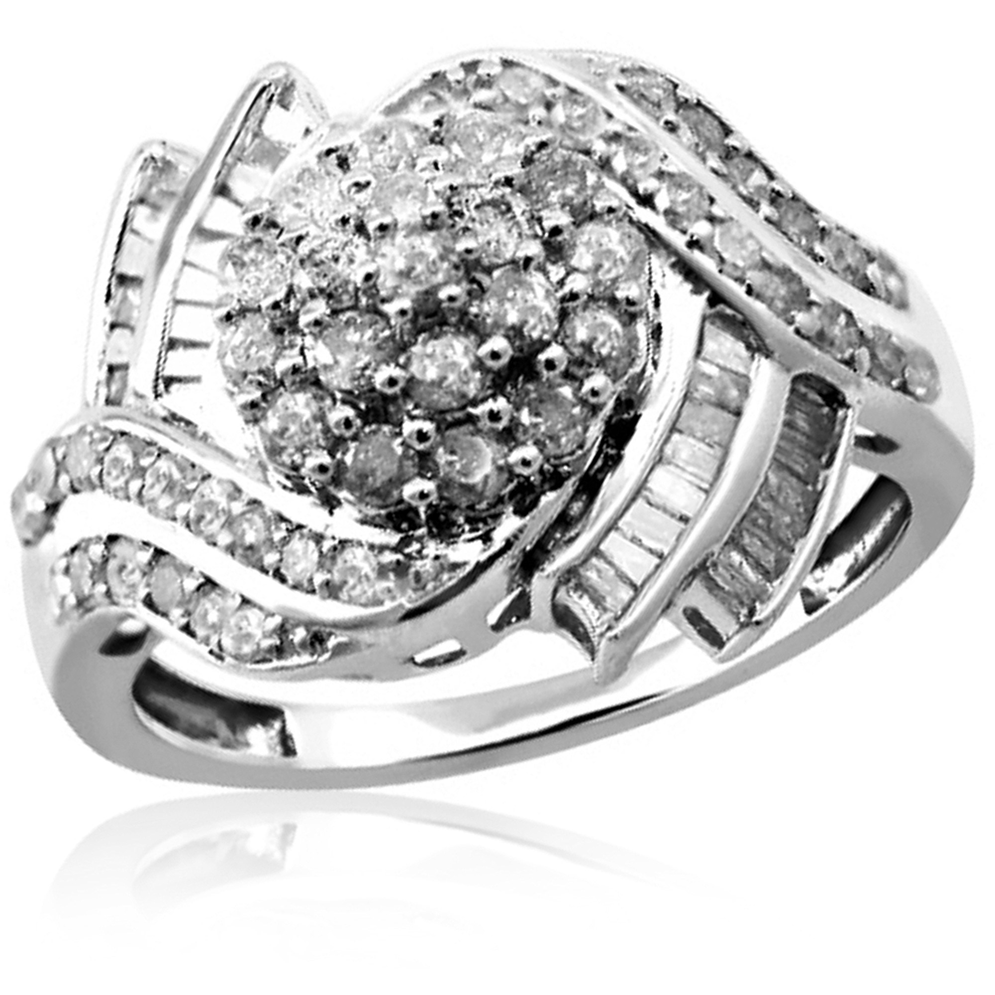 JewelersClub 1.00 CTW White Diamond Ring in Sterling Silver