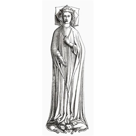 Castille 3 Lights - Eleanor of Castile, 1241 to 1290 First Queen Consort of Edward I of England From The Book Short History of The English People by J.R. Green Published London 1893 Poster Print, 12 x 30 - Large