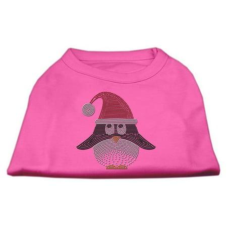 Mirage 52-95 XSBPK Santa Penguin Rhinestone Dog Shirt Bright Pink XS