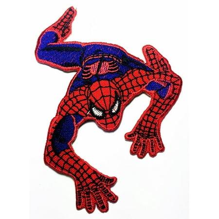 Spiderman Web Superhero Cartoon 8cm x 9 cm Iron On Embroidered Patch Applique