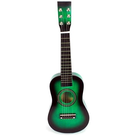 Acoustic Classic Rock 'N' Roll 6 Stringed Toy Guitar Musical Instrument w/ Guitar Pick, Extra Guitar String (Green)](Halloween Musical Chairs Music)