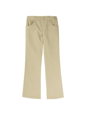 French Toast Girls 4-20 School Uniform Pull-On Twill Bootcut Pants