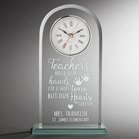 Special Teacher Personalized Glass Clock