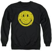 Smiley World Rosey Face Mens Crewneck Sweatshirt