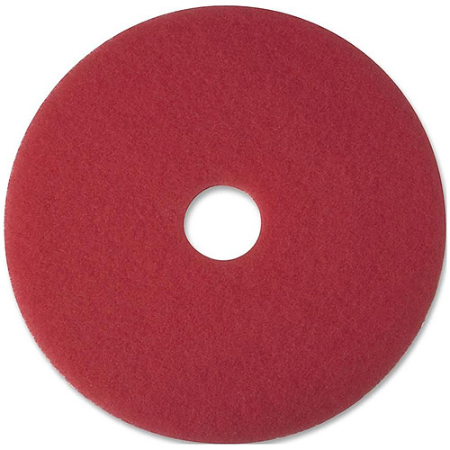 "3M 5100 Red 12"" Buffer Pads, 5 count"