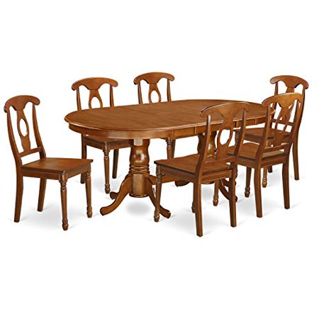 plna7 sbr w 7 piece dining room table set dining table and 6 dining room chairs. Black Bedroom Furniture Sets. Home Design Ideas