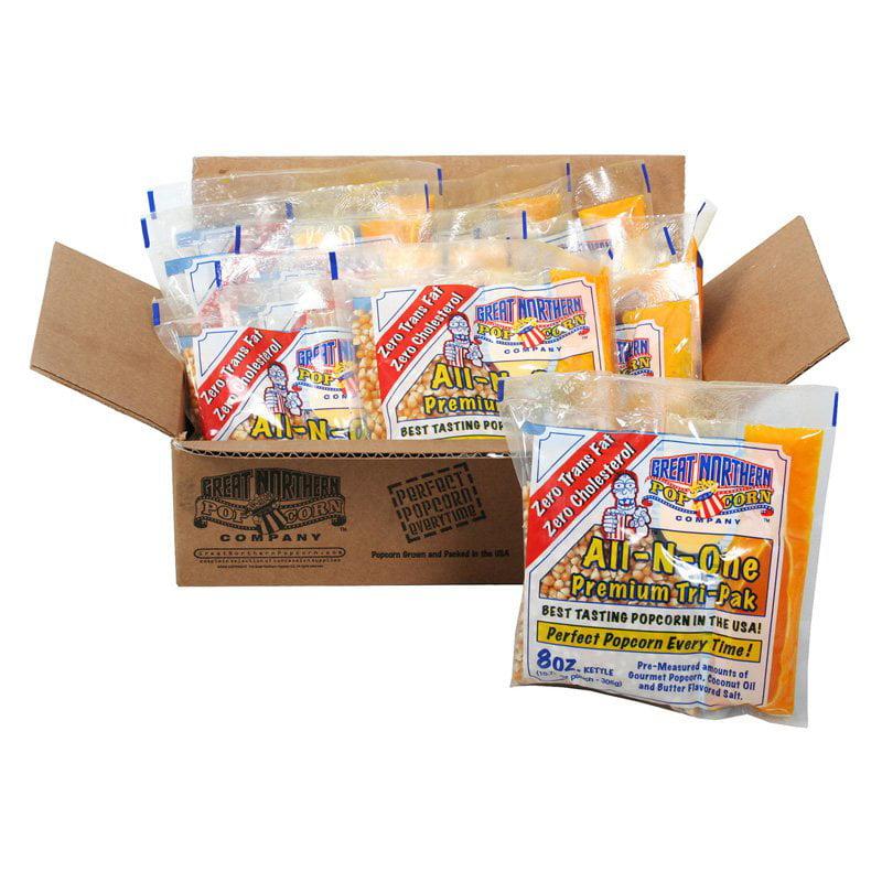 Great Northern Popcorn 8 oz. Popcorn Portion Packs Case of 12 by DTX International Inc