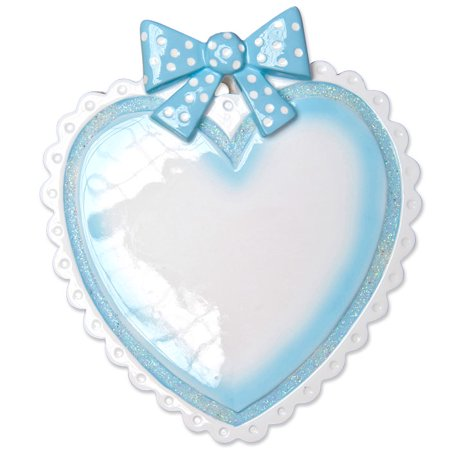 personalized christmas ornaments babys first light blue baby heart kit - Light Blue Christmas Ornaments