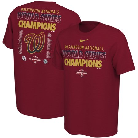 Washington Nationals Nike 2019 World Series Champions Celebration Roster T-Shirt - Red