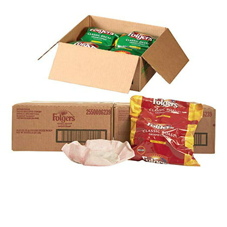 Folgers Filter Packs 2 Boxes Classic Roast and 1 Box Classic Decaf Coffee, Premeasured Coffee and Filter in a Single Pouch
