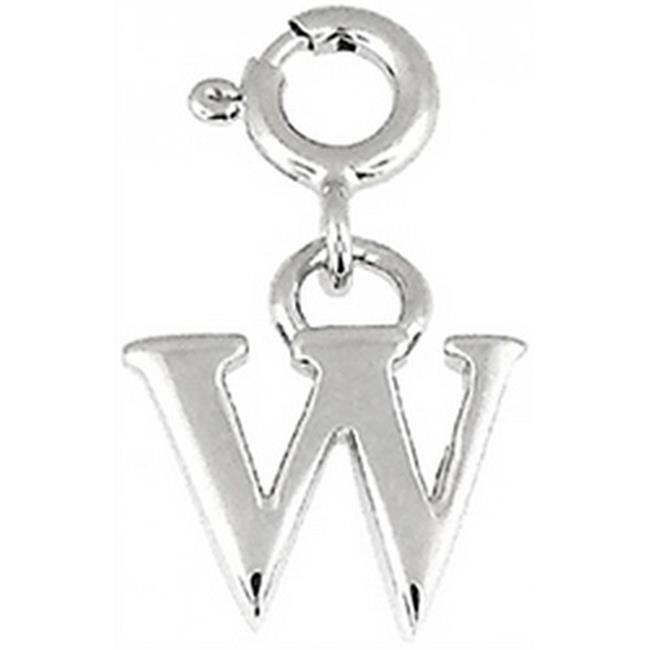 Doma Jewellery DJS01667 Sterling Silver Initial Charm - W