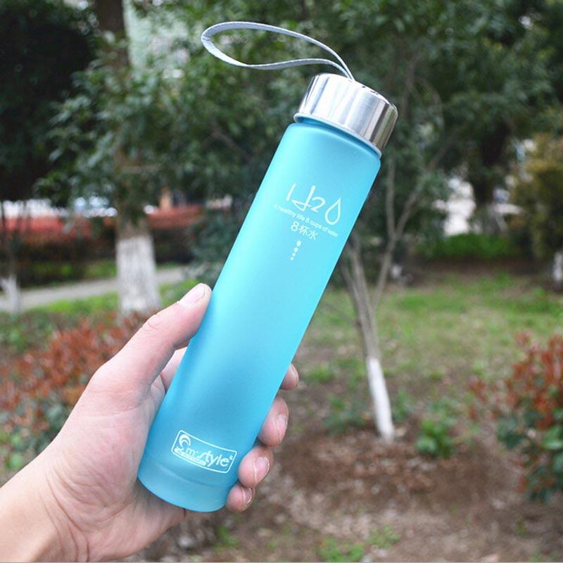 DZT1968 2015 New Portable Bike Sports Unbreakable 280ml Plastic Water Bottle BU