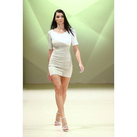 Canvas Print Model Female Catwalk Style Fashion Show Fashion Stretched Canvas 10 x 14