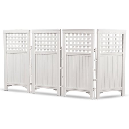 1 Outdoor Enclosure - Suncast Outdoor Screen Enclosure, White, FS4423