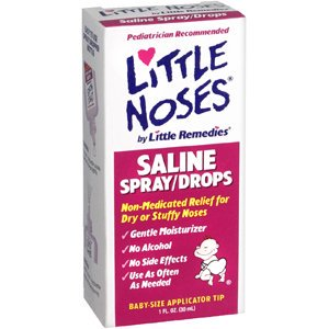 Little Noses Saline Spray / Drops for Dry for Stuffy Noses, 1