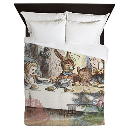 CafePress - Mad Tea Party Alice In Wonderland - Queen Duvet Microfiber](Alice In Wonderland Queen)