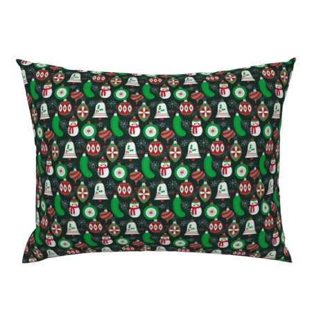 German Germany Pickle Ornament German Tradition Pillow Sham by Roostery ()