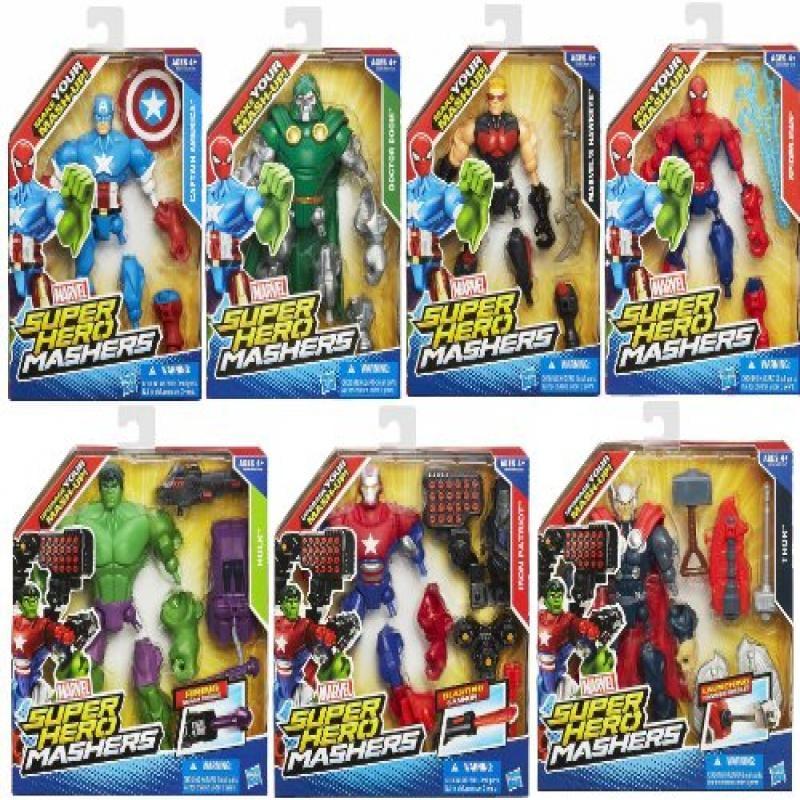 Marvel Super Hero Mashers Set Captain America Spider-Man ...