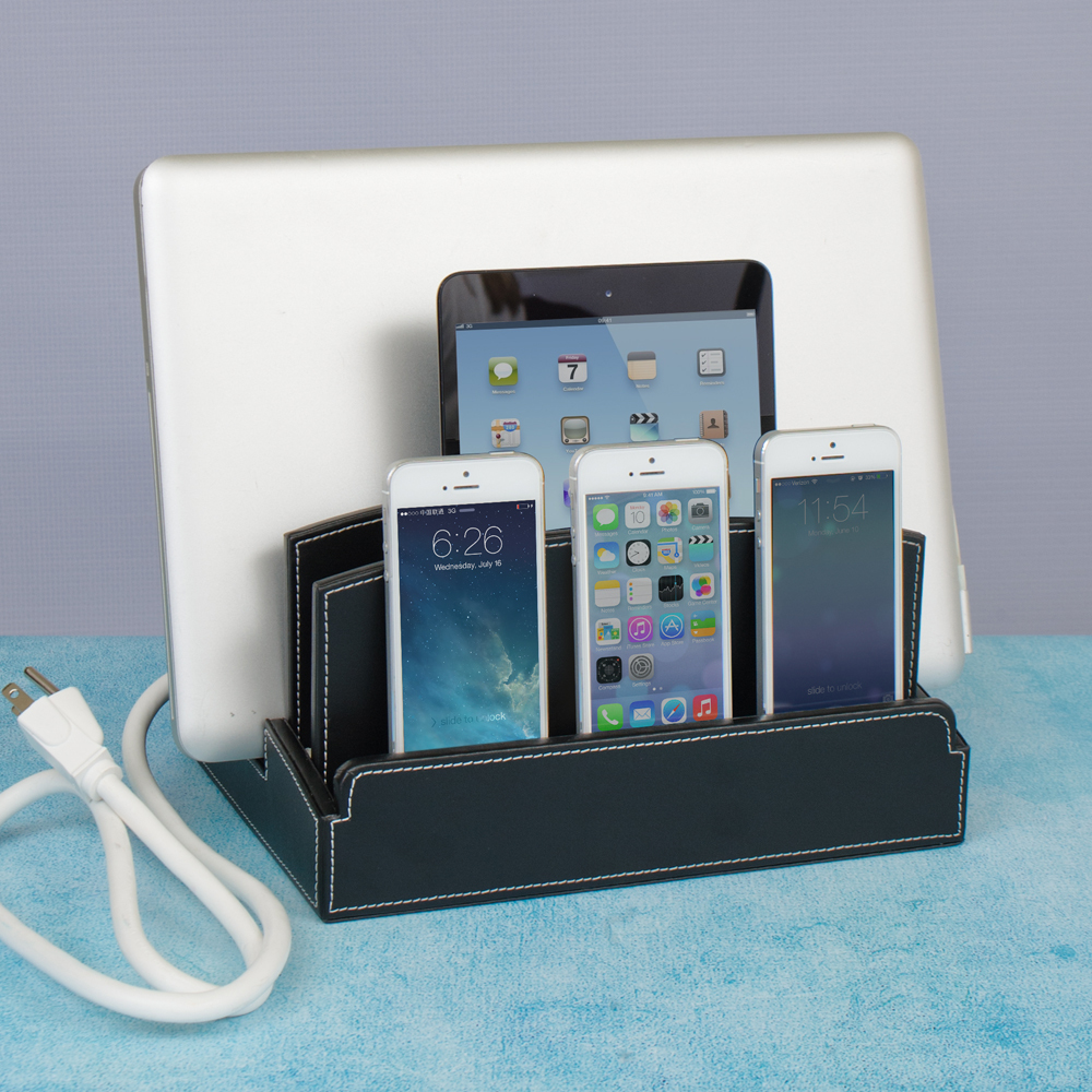 Ultra Charging Station and Dock with Built-in Power Strip...