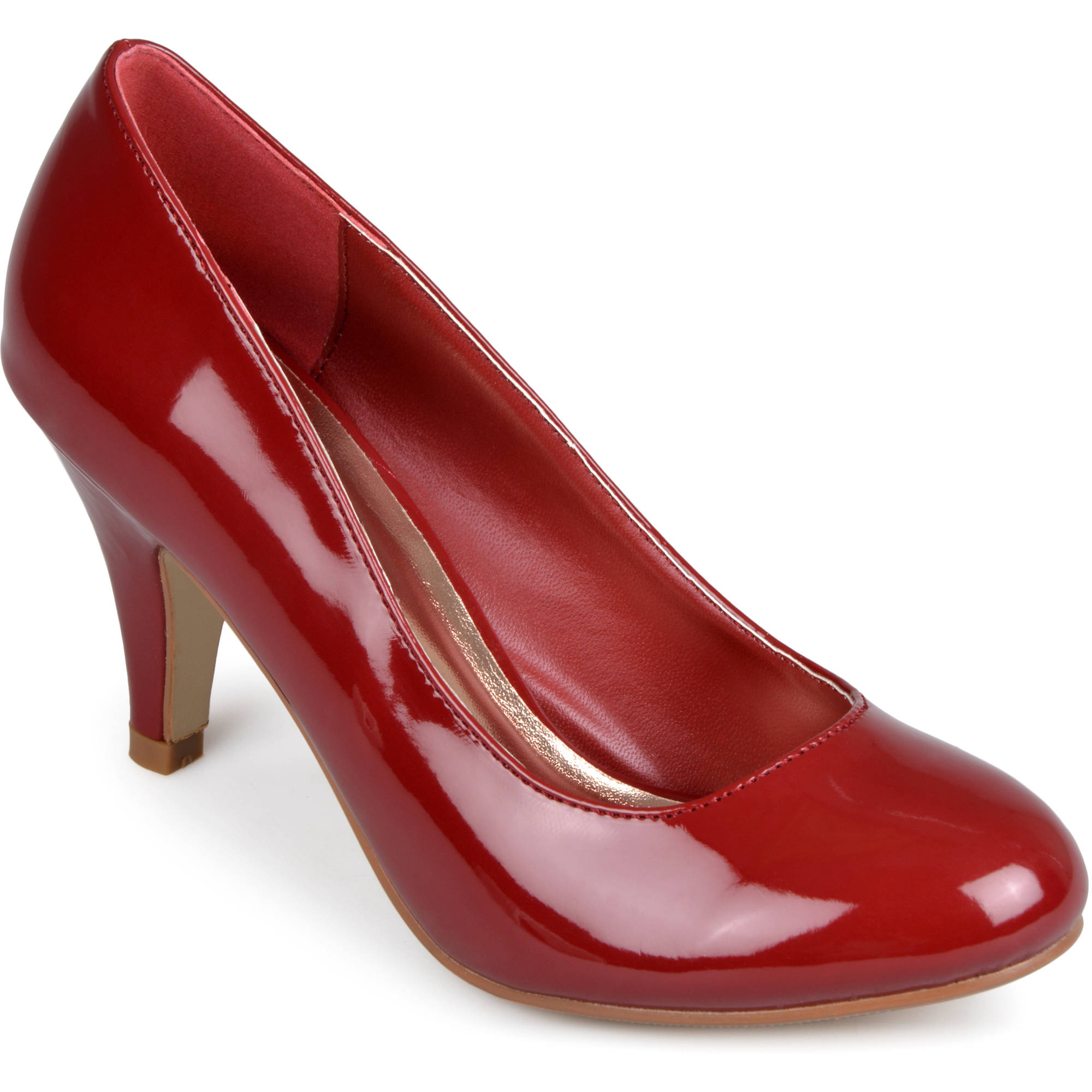 Brinley Co. Women's Round Toe Patent Pumps