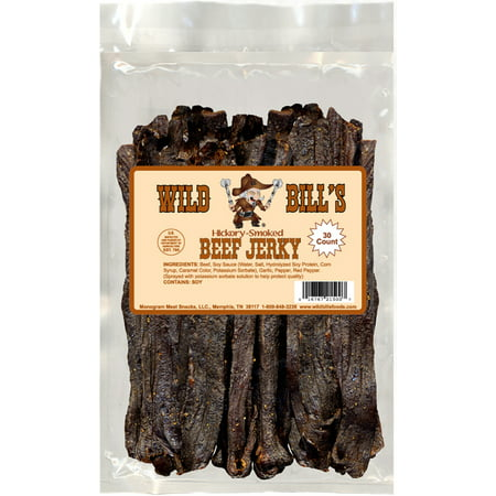 Wild Bills Hickory Smoked Beef Jerky Strips, 30-Count, 15-Ounce (Hickory Smoked Chicken)