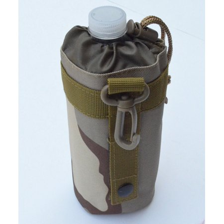 MOLLE Water Bottle Carrier Pouch Add-on for Utility Bag Back pack (Desert (Water Bottle Pouch)
