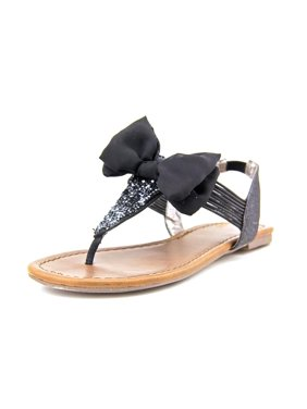 e8ae9d4d49c Product Image Material Girl Swan Women Open Toe Canvas Black Thong Sandal