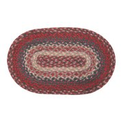 """Earth Rugs MS-012 Oval Swatch, 10 x 15"""""""", Burgundy"""
