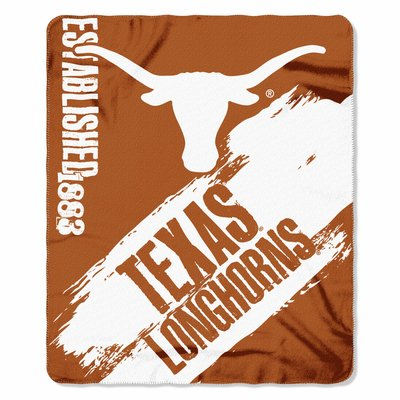 Texas Longhorns 50x60 Fleece Blanket - College Painted Design Texas Longhorns Kitchen