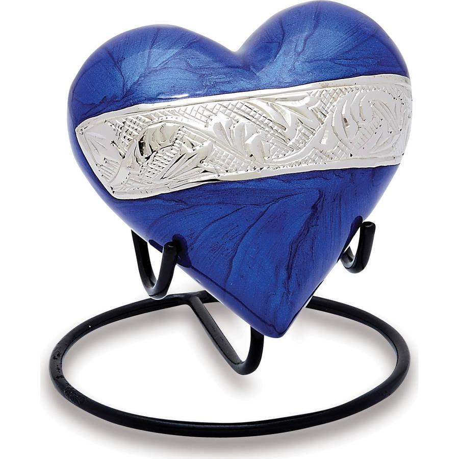 Urns Direct 2U Berkshire Blue Keepsake Heart, Set of 2