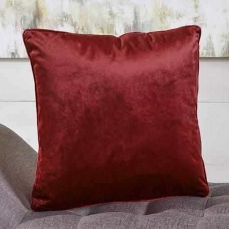 - Noble House Isla Velvet Pillow, Single, Berry