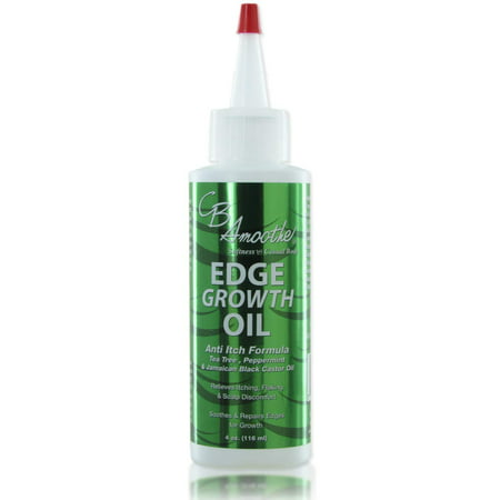 CB SMOOTHE Edge Growth Oil (4 Oz) â?? Hair Growth Formula with Tea Tree, Peppermint & Black Castor Oil â?? Relieves Itching, Flaking & Scalp Discomfort â?? Light Weight - Non Greasy â??Soothes &