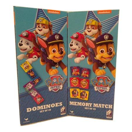 Kids Playtime Toddler Fun - Domino & Memory Match Game Puzzle 2 Piece SET Paw Patrol ()