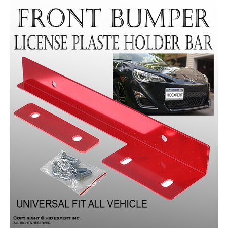 JDM One Set Red Color Aluminum Bumper Front License Plate Mount Relocate Bracket Free Shipping (Aluminum Bumper Set)