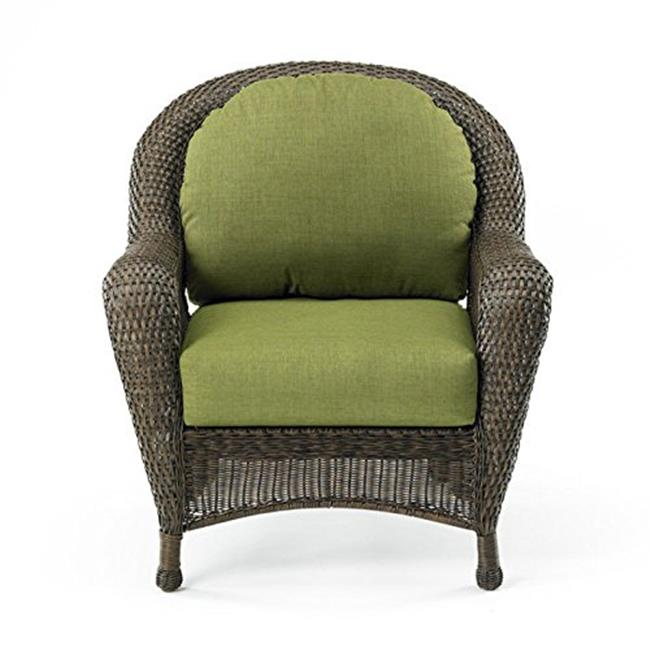 OutdoorGreatroom ES5074-C-SC Balsam Collection Wicker Chair with Cushion