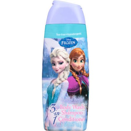 (2 Pack) Disney Frozen 3-in-1 Body Wash Shampoo Conditioner Frosted Berry Scent, 20.0 FL OZ ()
