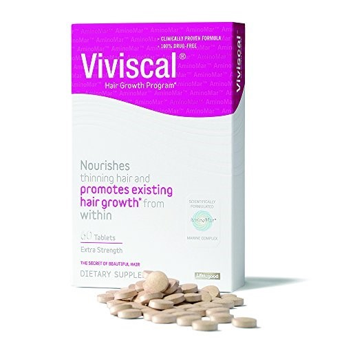 Find out the secret of beautiful hair with Viviscal's Extra Strength Dietary Supplement, a clinically proven formula that encourages hair growth of existing hair from within to fight thinning. Viviscal Extra Strength Dietary Supplement is scientifically formulated with the exclusive marine complex AminoMar which helps to promote existing Price: $