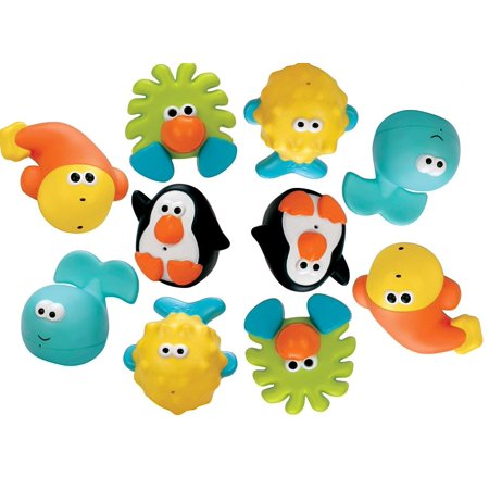 Sassy Bathtime Pals Squirt and Float Toys, 5 Piece Set (Pack of 2)