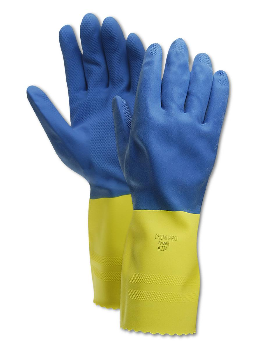 Ansell Chemi-Pro 224 Unsupported Neoprene Gloves Size 9, 12 Pair by