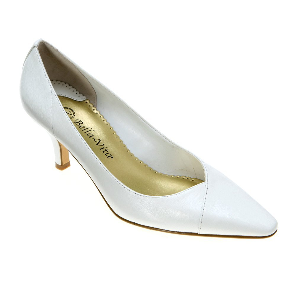 Bella Vita New White Women's Shoes Size 6.5WW Wow Kitten Heel Pump by Bella Vita