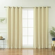Best Home Fashion, Inc. Geometric Blackout Thermal Grommet Curtain Panels (Set of 2)