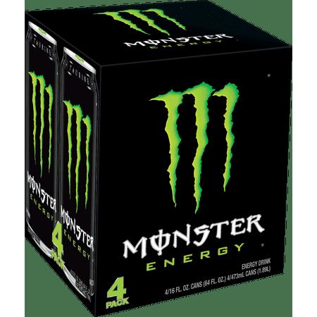 af514a4e0c Monster Original Energy Drink, 16 Fl. Oz., 4 Count - Walmart.com
