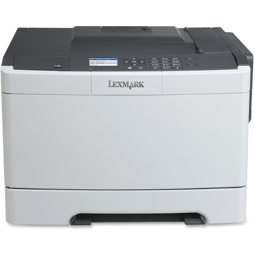 Lexmark CS410DN Laser Printer - Color - 2400 x 600 dpi Print - Plain Paper Print - Desktop, Black, Gray
