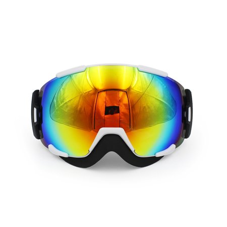 Ediors Windproof Snowmobile Ski Goggles for Men & Women - Dual Anti-fog,Anti-UV